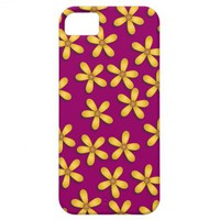 Happy Flowers Purple iPhone 5 Case from Zazzle.com