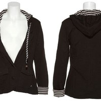 15DOLLARSTORE.COM - RUSTY Washable HB3 Headphone Hoodie W/ Stripe Lining (Black)