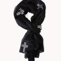 Studded Cross Scarf