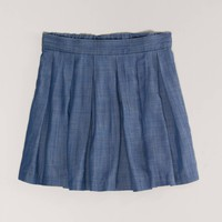 AE Chambray Circle Skirt | American Eagle Outfitters