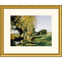 Great American Picture At Broadway Gold Framed Print - John Singer Sargent - 205088-Gold - All Wall Art - Wall Art & Coverings - Decor
