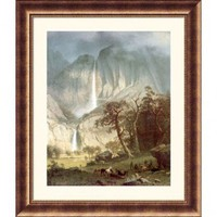 Great American Picture Cho-Looke, The Yosemite Fall Bronze Framed Print - Albert Bierstadt - 97920-B - All Wall Art - Wall Art & Coverings - Decor