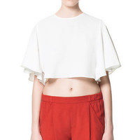 STUDIO CROPPED TOP - Tops - Woman - ZARA United States