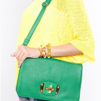 Green Envy Purse- Green Clutch- Cross Body Purse- $42