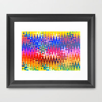 FANTASY WAVES Framed Art Print by catspaws