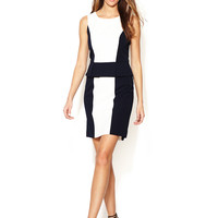 Contrast Peplum Sheath Dress by Tahari ASL at Gilt