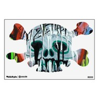 Siko Skull and Crossbones Wall Decal from Zazzle.com