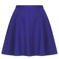 Purple Scuba Skater Skirt - New In This Week  - New In