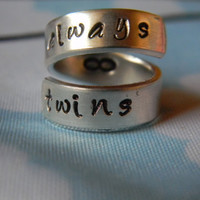 always twins aluminum spiral  ring