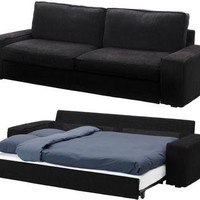 Slipcover for Ikea Kivik 3 Seat Sofa Bed Slipcover, Tranas Black Sleeper Cover:Amazon:Home & Kitchen