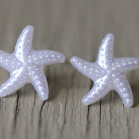 Starfish Studs  Silver Starfish Stud Earrings Pure by ArtisanTree