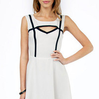 Understated Cutout Trim Dress $50