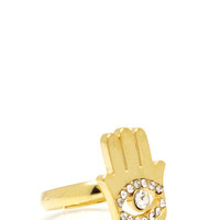 embellished-hamsa-ring GOLD - GoJane.com
