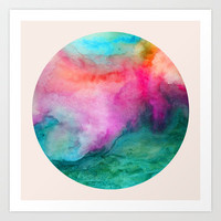 Staring at the Ceiling Art Print by Jacqueline Maldonado
