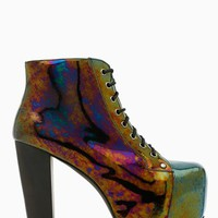 Lita Platform Boot - Oil Slick