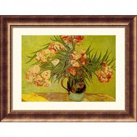 Great American Picture Vases de Fleurs (Vases of Flowers) Bronze Framed Print - Vincent van Gogh - 1 - All Wall Art - Wall Art & Coverings - Decor