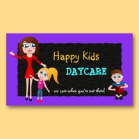 Daycare, Child Care, Babysitting Business Cards from Zazzle.com