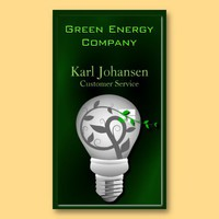 Green Energy Environmental Business Card from Zazzle.com