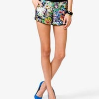 Abstract Floral Print Shorts | FOREVER 21 - 2034364161