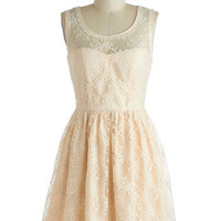 Lily of the Valley Dress in Cream | Mod Retro Vintage Dresses | ModCloth.com