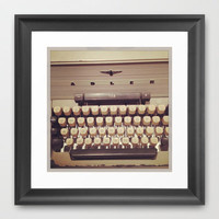 typewriter Framed Art Print by Marianna Tankelevich
