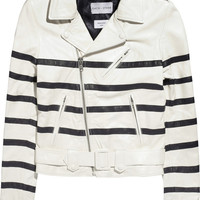 EACH X OTHER | Striped leather jacket  | NET-A-PORTER.COM