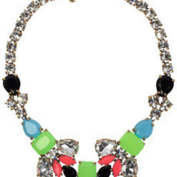 J.Crew | Color Collage crystal necklace | NET-A-PORTER.COM