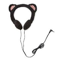 BLACK CAT HEADPHONES | Kitty, Ears, Head Set, Ipod, Music, Crochet | UncommonGoods