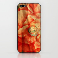 Pink Flower Print iPhone & iPod Skin by Rhiannon