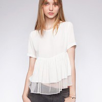 Tulle babydoll top -Fashion -Super-Market