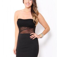 Sweetheart Mesh Mini Dress - Dresses