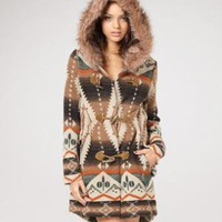fredflare.com | 877-798-2807 | faux fur hooded Flagstaff jacket