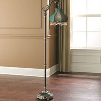 "DALE TIFFANY VICTORIAN FLOOR LAMP EMERALD 63""H  ELEGANT! NEW!"