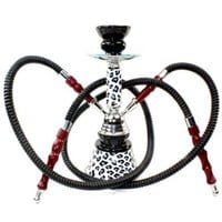"Never Exhale 11"" Premium 2 Hose Hookah Shisha Complete Set - Cheetah Leopard Tiger Animal Skin Art - Choose Your Beast (White Snow Leopard):Amazon:Health & Personal Care"
