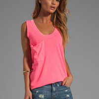 Bobi Light Weight Jersey Pocket Tank in Sweettart from REVOLVEclothing.com