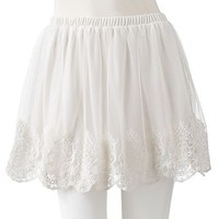 SO Embroidered Mesh Skirt - Juniors