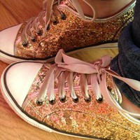Aldo Gold Glittery Sneakers from seringh