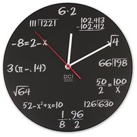 Math and Science Pop Quiz Wall Clock