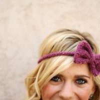 the BOHO BOW headband / color raspberry by topherco on Etsy