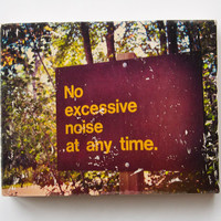 "No Excessive Noise - Limited Edition Fine Art Photo Transfer on 16""x20"" Wood Panel by Patrick Lajoie"