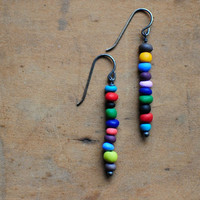Off You Go bright beaded earrings