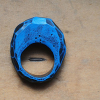 Fragment Carved Ring in Ultramarine