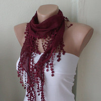 MOTHER'S DAY 25 SALE Spring Dark Red Cotton Spring by Periay