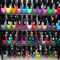 48 Piece Rainbow Colors Glitter Nail Polish Lacquer Set + 3 Scented Nail Polsih Remover: Health & Personal Care