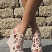 Light creme perspex sandal from Chockers Shoes