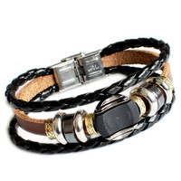 Couple Bracelet Unisex Leather Bracelet Jewelry Bangle bracelet women Leather Bracelet  Men Leather Bracelet  RZ1378-BR