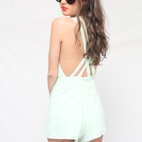 Strappy Mint Playsuit - LoLoBu