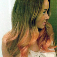 P E A C H E S  and cream  blonde colored human by LawlessANDlulu