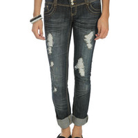 Roll Cuff Skinny Jean - Teen Clothing by Wet Seal