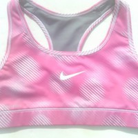 Nike PRO Sports Bra Printed Pink-White [S] Small
